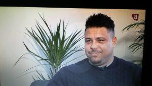 Ronaldo Nazario en la entrevista a los compañeros de la 8 de Valladolid