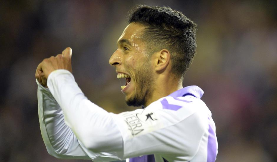 Anuar celebrando el gol ante el Real Madrid