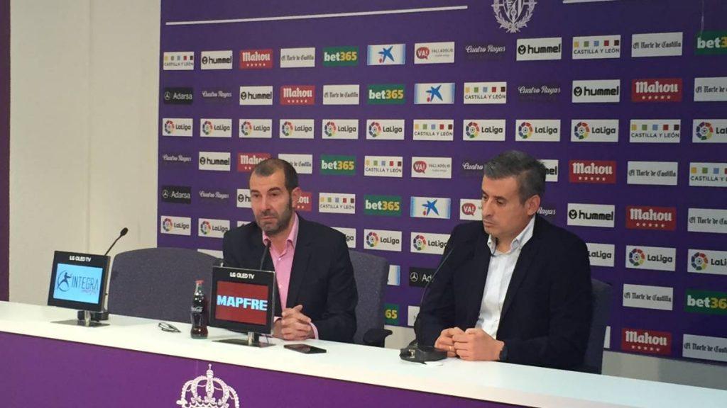 """Miguel Ángel Gómez: """"Hay dos o tres perfiles de jugadores que desean jugar en el Real Valladolid"""""""