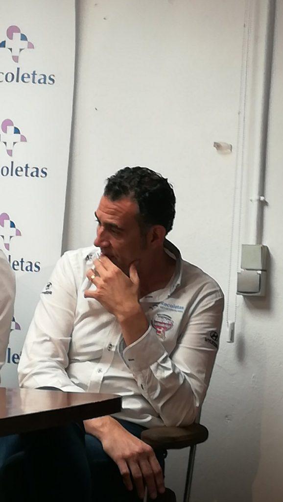 David Pisonero en la rueda de prensa