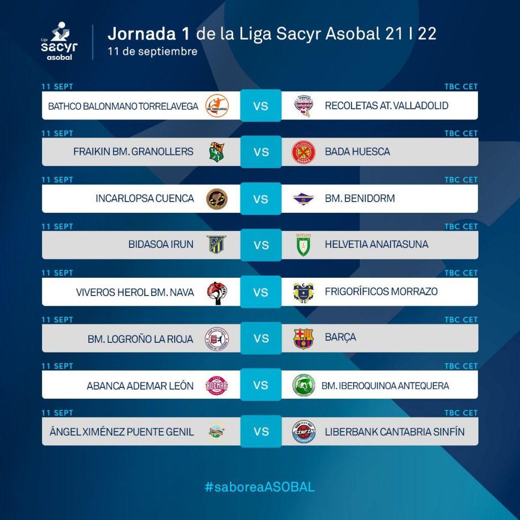 El Recoletas debutará en la Liga Sacyr Asobal 21-22 en pista del Bathco BM Torrelavega