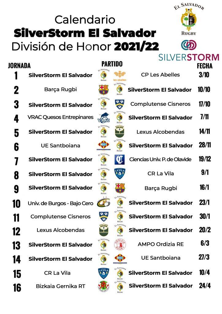 Calendario del SilverStorm El Salvador